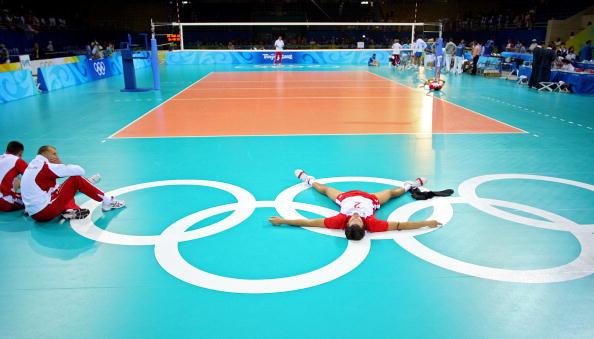图文-奥运会男子排球1/4决赛赛况 输球很沮丧
