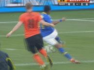 巴西1-2荷兰 罗比尼奥