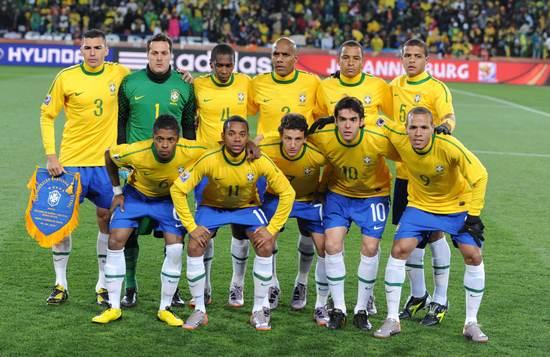图文-[小组赛]巴西VS朝鲜桑巴首发11人