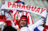 巴拉圭球迷打横幅