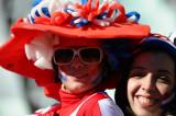 女球迷迷人微笑