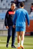 主教练奎罗兹与C罗谈话