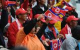 现场朝鲜球迷