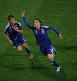 远藤保仁庆祝进球