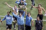 乌拉圭队一片欢腾