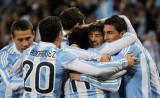 阿根廷球员欢庆