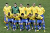 巴西队首发阵容合影
