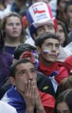 智利球迷无奈