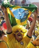 巴西球迷开心