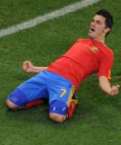比利亚享受进球快乐