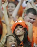 荷兰女球迷微笑