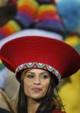 美女帽子别致