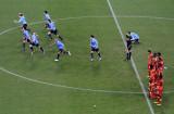 乌拉圭队员奔跑