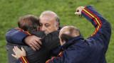 博斯克与教练拥抱