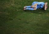 球员痛苦受伤
