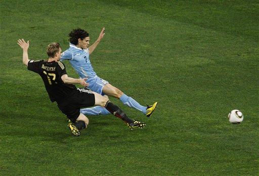 图文-[季军战]乌拉圭2-3德国卡瓦尼推射远角