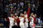 中国队员庆祝胜利