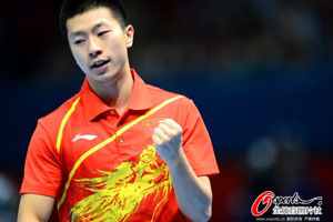 男团决赛马龙3比1力克柳承敏中国队先拔头筹