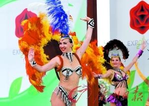 """热情的桑巴舞蹈将在""""里约8分钟""""出现。"""