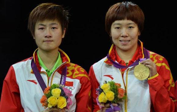中国包揽乒乓球女单金银牌