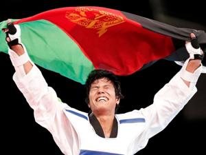 跆拳道68kg级阿富汗选手尼克帕夺季军