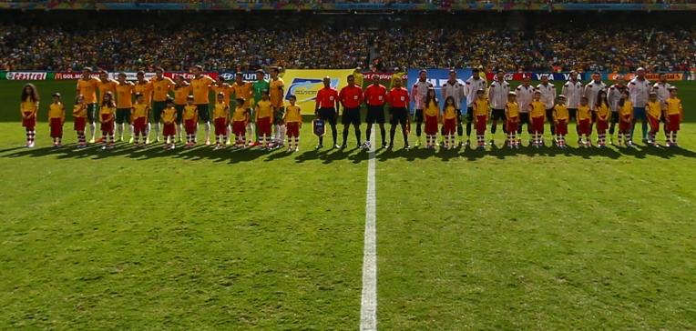 澳大利亚与西班牙开赛仪式