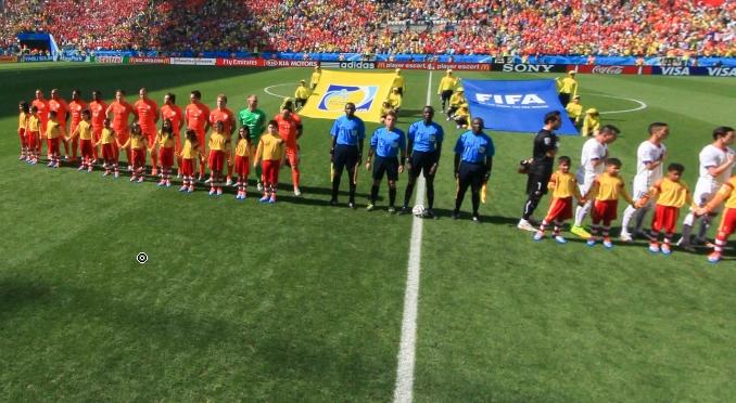 荷兰与智利开赛仪式