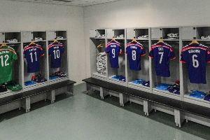 日本队更衣室一览