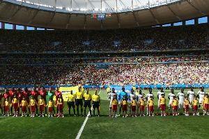 葡萄牙vs加纳赛前仪式