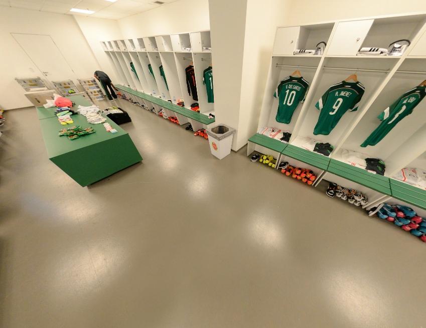 淘汰赛前墨西哥更衣室一览