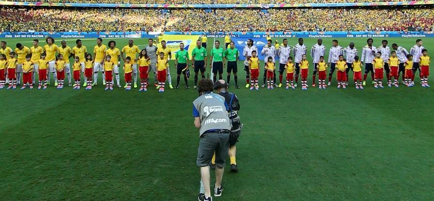 巴西vs哥伦比亚开赛仪式