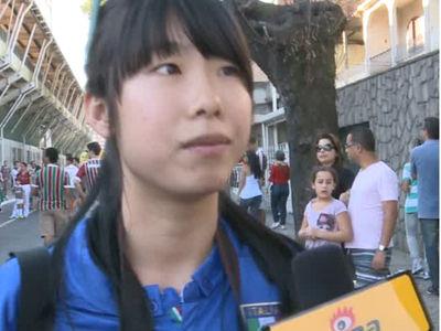 意大利热身赛中国学生采访