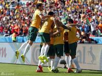 世界杯B组次轮 澳大利亚VS荷兰上半场