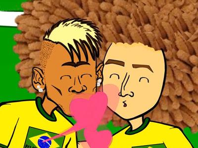 动画恶搞巴西点球大战