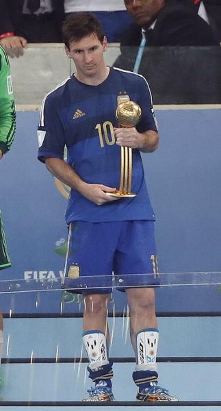 梅西获得世界杯金球奖