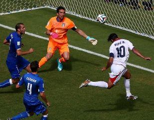 世界杯-巴神失单刀意大利0-1负送哥斯达黎加出线