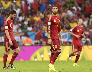 世界杯-西班牙0-2不敌智利卫冕冠军两连败出局