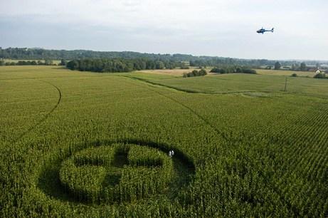 绿色和平在法国制作的麦田怪圈