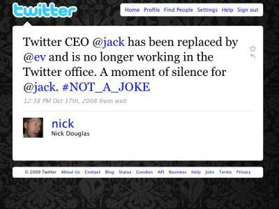 宣布多尔西辞职的Twitter消息