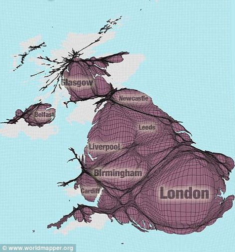 全新的世界地图-英国
