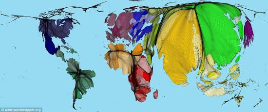 新世界人口地图