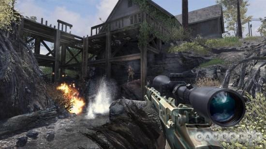 图为《使命召唤:现代战争2》游戏截图