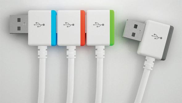 图为:概念多彩无限USB接头