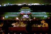 远眺熄灯前的故宫