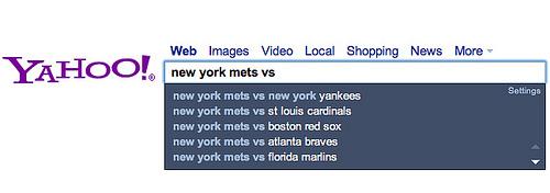 雅虎搜索加入实时信息显示功能