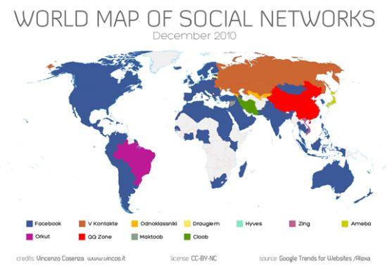全球社交网络地图
