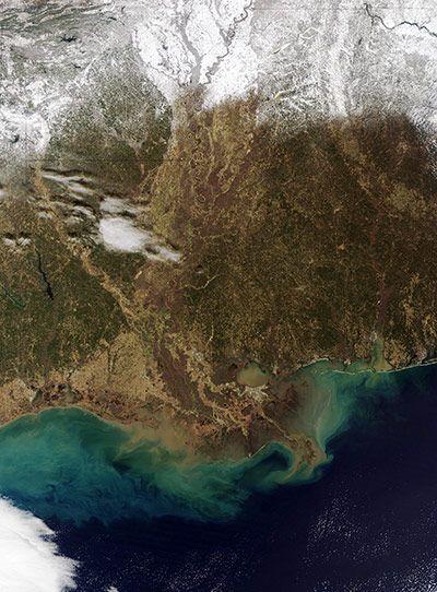 美国南部大雪