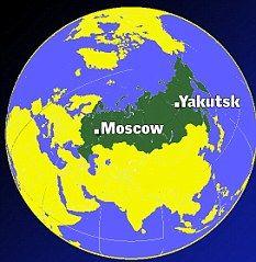 神秘的UFO在西伯利亚雅库茨克上空出现。