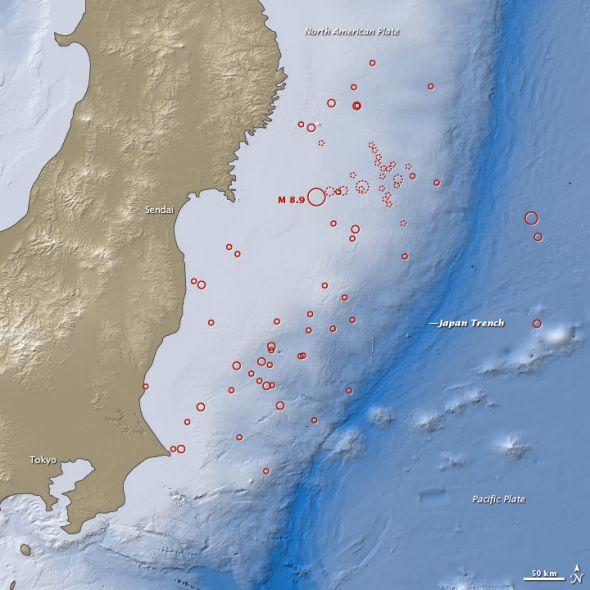 日本地震改变地球质量分布 一天缩短1.8微秒