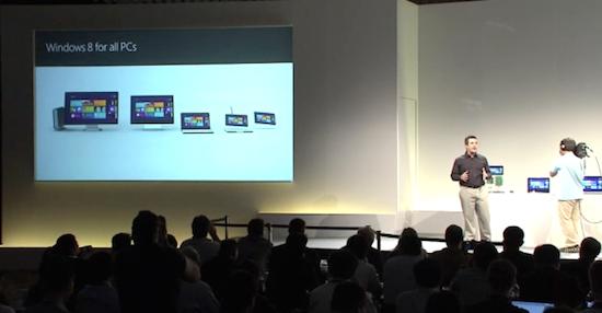 Windows 8可以在各种设备上运行